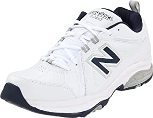 New Balance Men's MX608V3 Cross-Training Shoe,White/Navy,10.5 D US