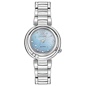 Citizen Women's EM0320-59D Sunrise Analog Display Japanese Quartz Silver Watch