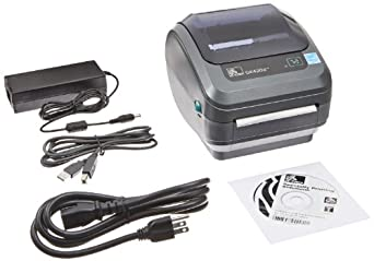 "Zebra GK420d Monochrome Desktop Direct Thermal Label Printer, 5 in/s Print Speed, 203 dpi Print Resolution, 4.09"" Print Width, 100/240V AC"