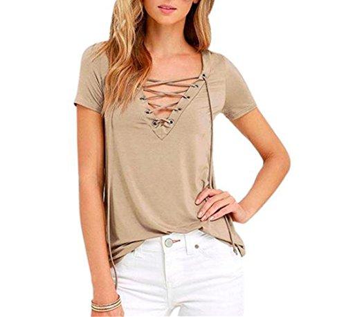 h-nloose-pullover-t-shirt-short-sleeve-tops-shirt-blouse-m-khaki