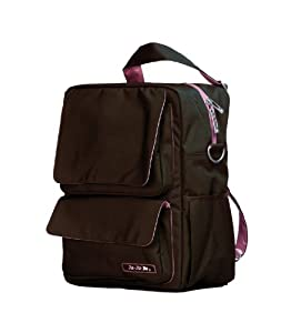 Ju-Ju-Be Packabe Diaper Bag, Brown/Bubblegum