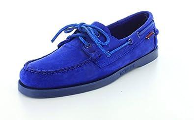 Sebago B720150 Mens Docksides Casual Shoe, Bright Blue Nubuck - 7M