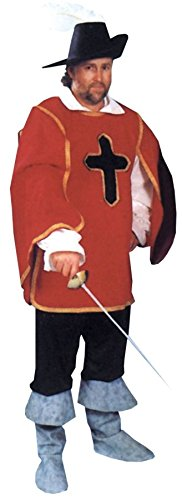 Cavalier Man Costume With Gold Trim