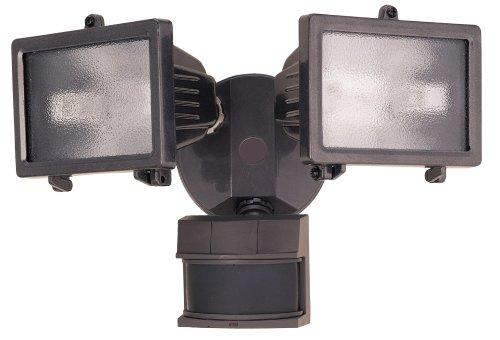 Heath Zenith SL-5512-BZ 300-Watt Quartz Halogen Motion-Sensing Twin Security Light, Bronze