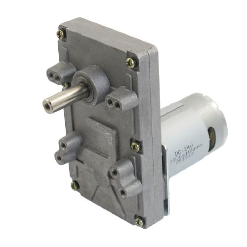 Dc 24V 50Rpm Output Speed 2 Pin 8Mm Shaft Electric Power Geared Motor