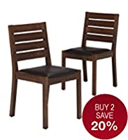 2 Sonoma Dark Dining Chairs