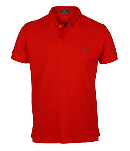 Polo Ralph Lauren maniche corte custom fit pony piccolo (XXL, Rosso)