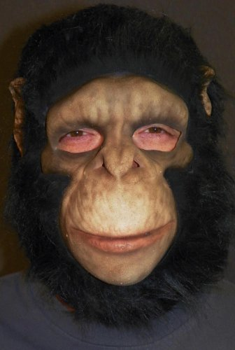 Chimpanzee Full Head Costume Mask Adult Select Size: One Size
