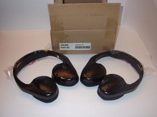 2 General Motors Headphones Kit Part Number 20830570 Headphone (Sku Gm Fold)Part 20830572 Replaces Updates Part # 25795362 Chevrolet Suburban, Gmc Yukon, Cadillac Escalade, Uplander, Tahoe, Acadia, Buick Enclave, Pontiac Montana Sv6, Terraza, Saturn Relay