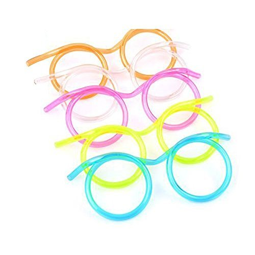 Funny Soft Glasses Straw Unique Flexible Drinking Tube Kids Party Accessories (Klean Extract compare prices)
