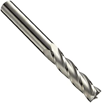 Niagara Cutter C430 Carbide Square Nose End Mills, Inch, Uncoated (Bright) Finish, Roughing and Finishing Cut, 30 Degree Helix, For Use With All Materials