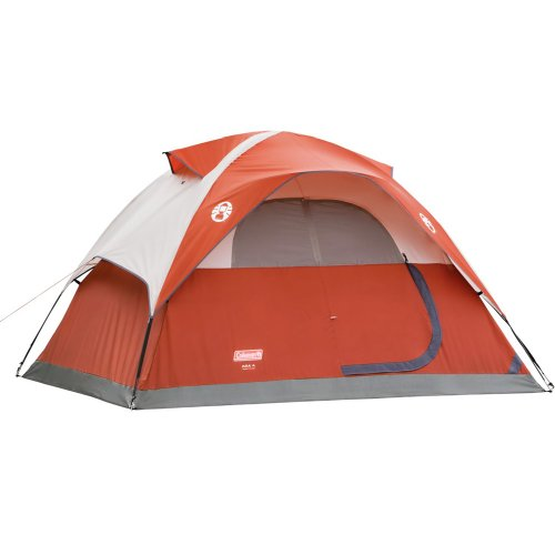 Coleman 4 Person Dome Tent - Red (9'x7')
