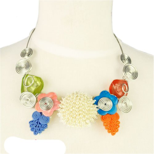 Handmade Wire Wrapped with Beads Necklace, Fashion Jewelry Accessories,nl-1812 (A)