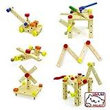 知育玩具 木製おもちゃ 組み立て イス 大工さんセット24ピース