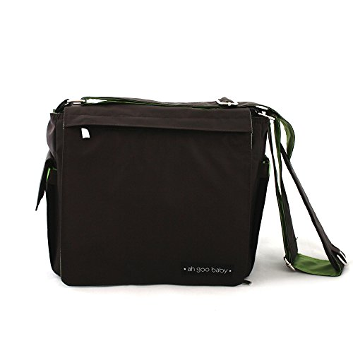 Ah Goo Baby Grab-and-Go Compact Diaper Bag, Espresso