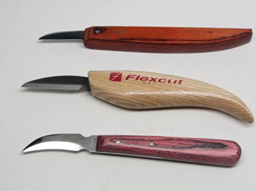 Details About 3 Wood Carving Bench Knife Set Whittling Decoy Caricature Chip Flexcut Ramelson