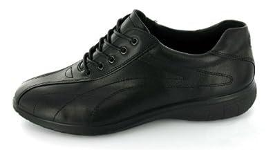 New Ecco Ladies Fresh Tie Casual Walking Shoes Sneakers Black 35 4 4.5 M