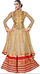 Shree Ganesh Women's Net Unstitched Dress Materials [D68]