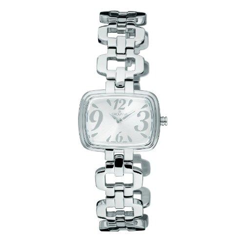 Grovana 4539,1138 - Reloj analógico de cuarzo para mujer, correa de acero inoxidable chapado color plateado