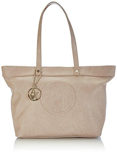 Armani Jeans Shoes & Bags De - 0525Fr1, Acquirente da donna, beige (grigio chiaro ec), 31x28x15 cm (B x H x T)