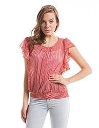 Prym Women's Body Blouse Shirt (1011517501_Orange Mix_Small)