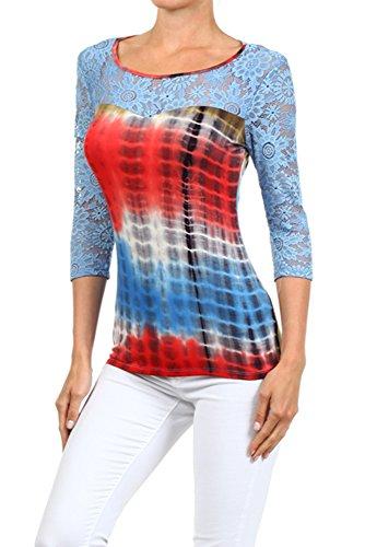 Plus-Size-Lace-Tie-Dye-Top