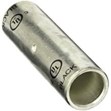 Morris Products 94540 Long Barrel Compression Splice, Copper, 750mcm Wire Range, Black Color Code