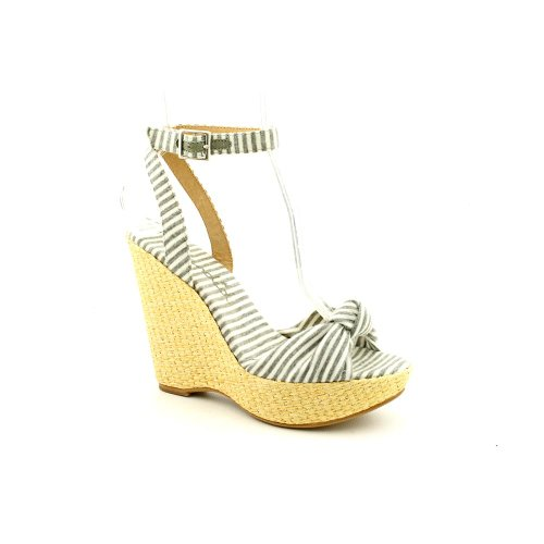 Splendid Lustful Womens Size 8.5 Gray Textile Wedge Sandals Shoes