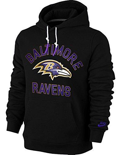 Nike Baltimore Ravens Rewind Club NFL Men's Hoodie (Large, Black)