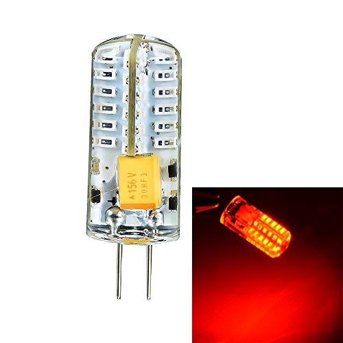 Mudder® G4 3014Smd 48-Led Red Light Decorative Crystal Capsule Spotlight Bulb Ac 12V
