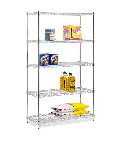 Honey-Can-Do 5-Tier Storage Shelves, Chrome