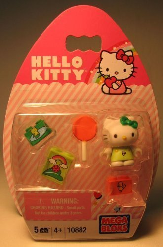 Mega Bloks Hello Kitty Frog With Orange Lollipop #10882 - 1