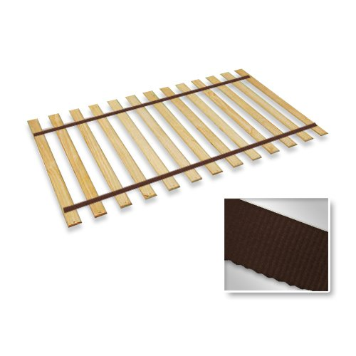 twin size attached bed slats bunkie boards brown straps