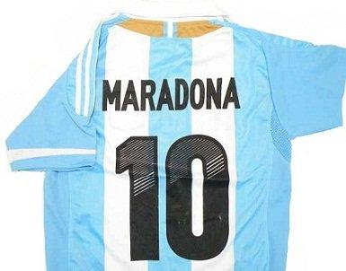 ◆大人用サッカーユニフォーム 2012-2013モデル◆往年の名選手シリーズ アルゼンチン代表 HOME #10 マラドーナ hqh-332
