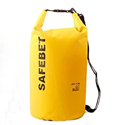 Faswin 20L Dry Bag Sack Premium Waterproof Dry Bags with Shoulder Strap & Grab Handle, Great for Boating, Kayaking, Fishing, Rafting, Swimming, Camping, Canoeing and Snowboarding