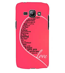 ColourCraft Heart Look Design Back Case Cover for SAMSUNG GALAXY J1