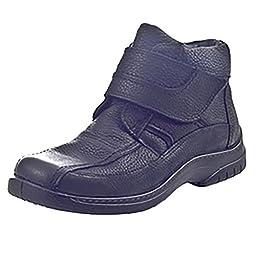 Jomos Men\'s Black Leder Uniform Dress Shoes 38