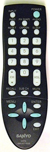 sanyo-lcd-tv-remote-control-gxfa-gxcc-supplied-with-models-dp19648-dp19649-dp26640-dp26649-also-comp