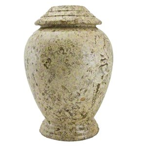 Elegant, High Quality Fossilstone Pet Memorial Urn - Large