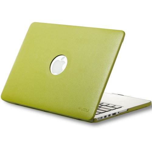 Review:  Kuzy - Retina 13-Inch Lime GREEN LEATHER Hard Case for MacBook Pro 13.3