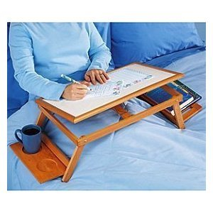 Buy Low Price Comfortable MULTI-FUNCTIONAL LAPTOP & READING BAMBOO STAND / LAP DESK / BREAKFAST BAMBOO BED TRAY, ALL NATURAL AND ENVIRONMENTAL FRIENDLY BAMBOO WOOD LAPTOP STAND AND TRAY, LAPTOP TABLE FOR BED OR COUCH (B004WEEDZI)