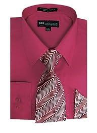 Milano Moda Men's Long Sleeve Dress S…