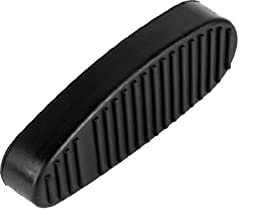 Ultimate Arms Gear Tactical New Generation Ribbed Stealth Black Slip On Rubber Recoil Reducing Combat Buttpad Butt Pad For 6 Six Position Retractable Collapsible Stock AR-15 AR15 M4 Rifle Shotgun