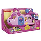 Fisher Price ,World of Little People Pink Airplane