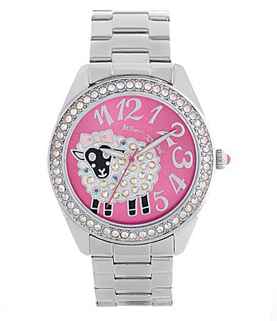 Betsey Johnson Silver Bling Sheep Watch