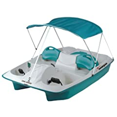 Buy KL Industries Sun Dolphin Sun Slider Adjustable 5 Seat Pedal Boat w  Canopy by Sun Dolphin