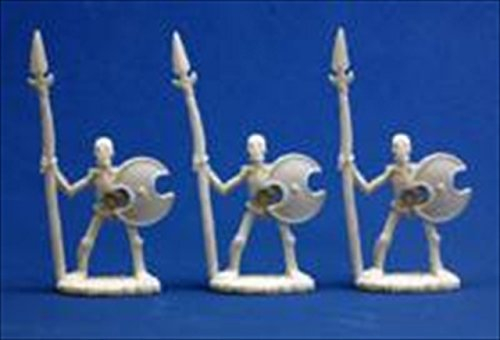 Skeletal Spearmen (3) - Dark Heaven Bones Miniature - 1