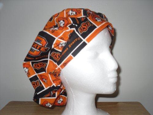 Womens Bouffant Scrub Cap, Adjustable, Oklahoma State University Cowboys