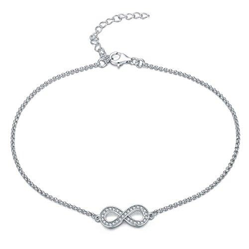 Gorgeous elegant INFINITY / Bow ANKLET  DIAMANTES,
