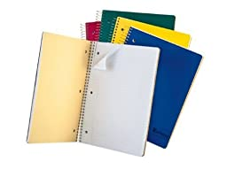 Ampad Single Wire Notebook, Size 11 Inches X 8.5 Inches, Assorted Colors, College Ruled, 150 Sheets, 25-435, 1 Each by Ampad